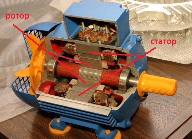 роторный электродвигатель