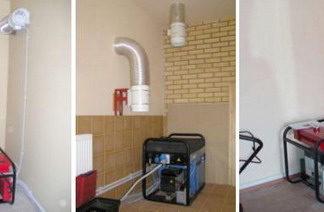 Установка и подключение электрогенератора