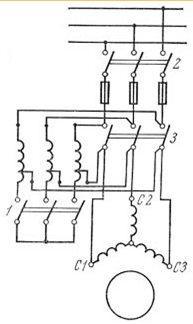 пуск электродвигателя через автотрансформатор