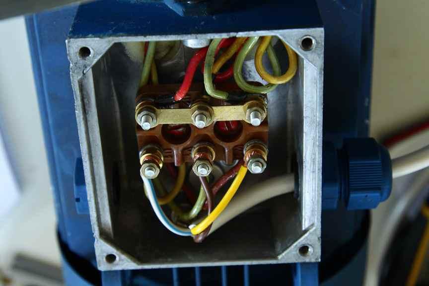 замена трёхфазного электродвигателя