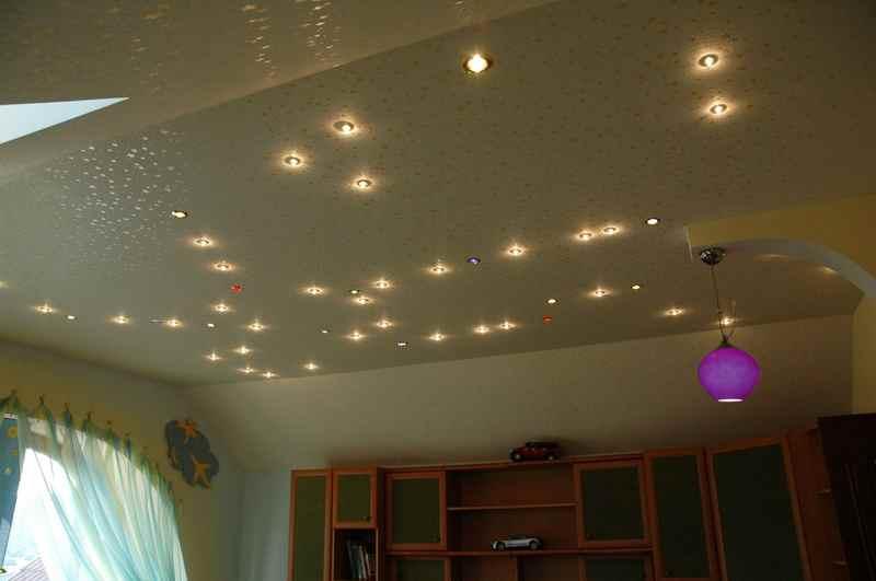 Выбор точечных светильников для натяжных потолков