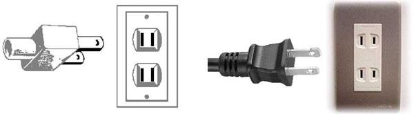 электрические вилка и розетка типа A