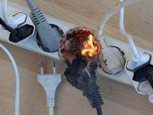 перегрузка электросети