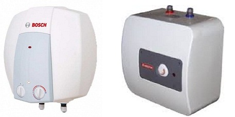 водонагреватели над и под мойкой