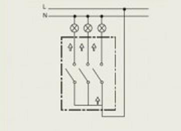 выключатель трехклавишный