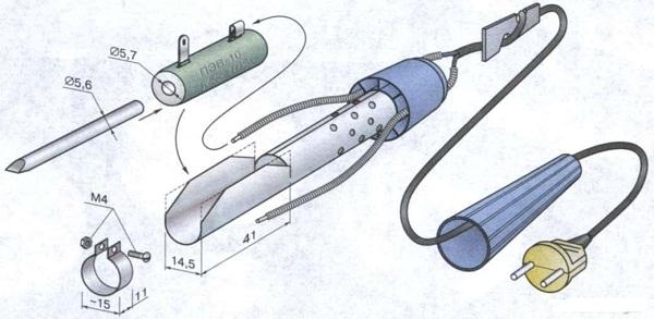 замена нагревательного элемента в паяльнике
